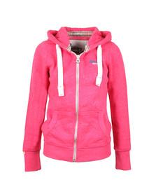 Superdry Womens Pink Orange Label Primary Zip Hoody