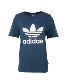 Adidas Originals Womens Blue BF Trefoil T Shirt