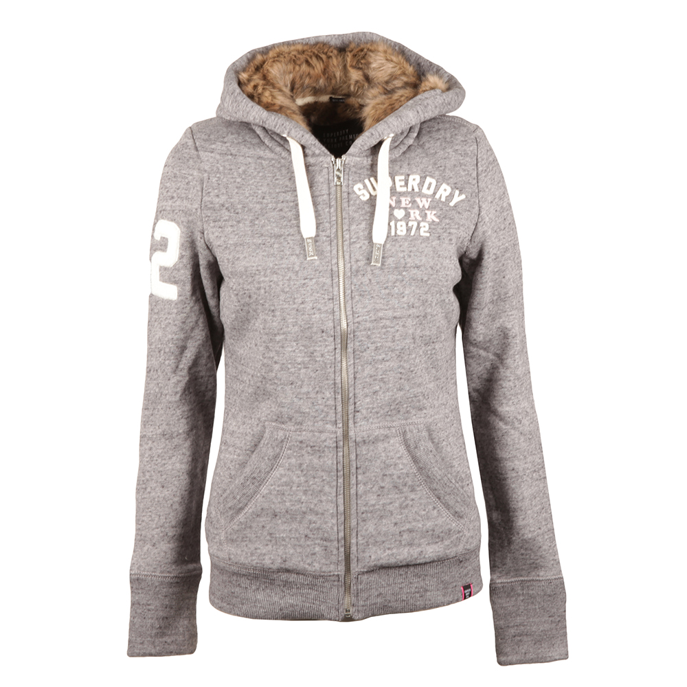 Fur Lined Applique Hoody main image