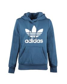 Adidas Originals Womens Blue Trefoil Logo Hoodie