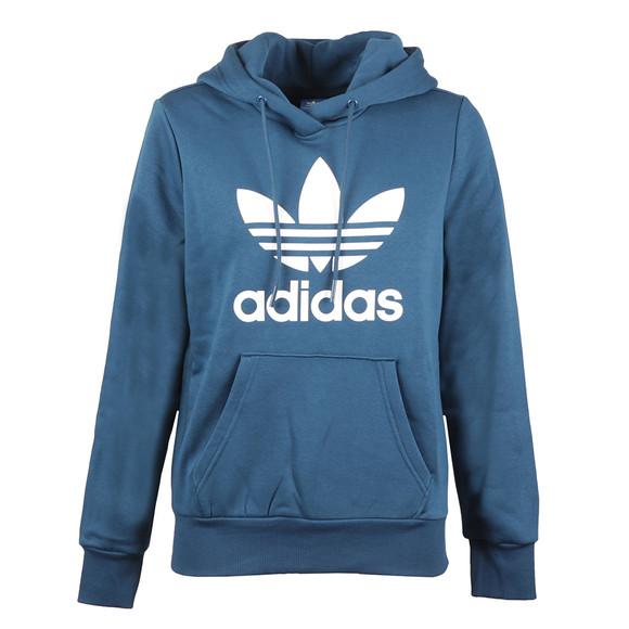 Adidas Originals Womens Blue Trefoil Logo Hoodie main image