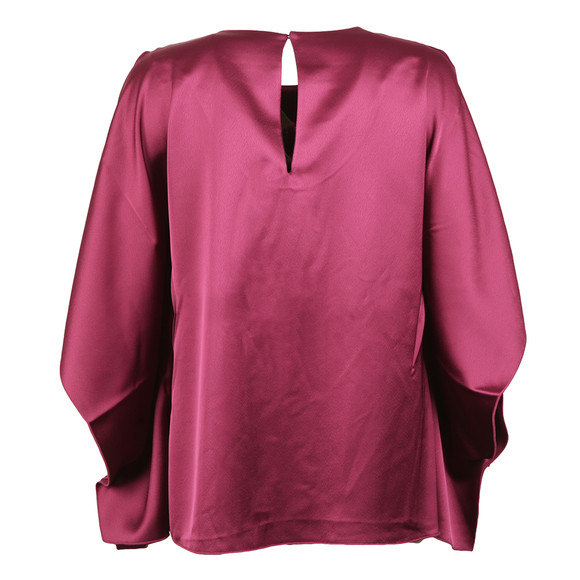 French Connection Womens Pink Sasha Satin Fluted Top main image