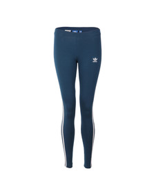 Adidas Originals Womens Blue 3 Stripes Legging