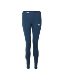 Adidas Originals Womens Blue 3 Stripes Legging