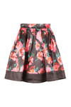 French Connection Womens Black Allegro Poppy Satin Flare Skirt