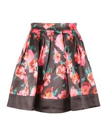 French Connection Womens Black Allegro Poppy Satin Flare Skirt