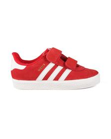 Adidas Originals Boys Red Gazelle 2 CF Trainer