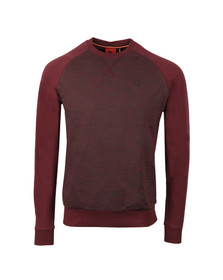 Luke Mens Red Spaced Guy Crew Neck Sweat