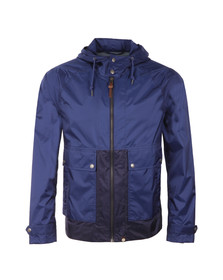 Pretty Green Mens Blue Brompton Hooded Jacket