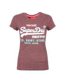 Superdry Womens Red Shirt Shop Tri Tee