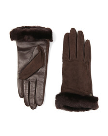 Ugg Womens Brown Classic Suede Smart Glove