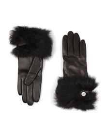 Ugg Womens Black Valentina Swarovski Smart Glove