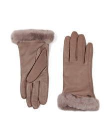 Ugg Womens Grey Classic Smart Leather Glove