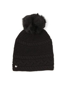 Ugg Womens Black Cable Oversized Beanie