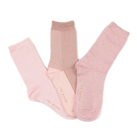 Ted Baker Womens Pink Glintee Metallic Assorted Sock Pack main image