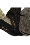 Ted Baker Womens Black Glintee Metallic Assorted Sock Pack