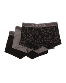 Diesel Mens Grey UMBX Shawn 3 Pack Boxer
