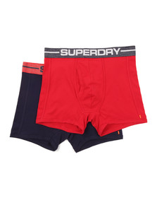 Superdry Mens Multicoloured Sport Boxer Double Pack