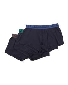 Hugo Mens Blue 3 Pack Boxer