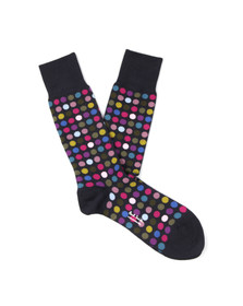 Paul Smith Mens Blue Multi Polka Dot Sock
