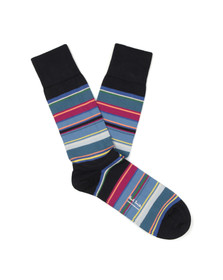 Paul Smith Mens Blue Val Stripe Sock