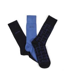 Boss Mens Blue 3 Pack Sock Box