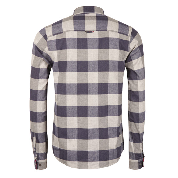 Luke Mens Blue Hoople Flannel Overshirt main image