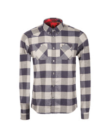 Luke Mens Blue Hoople Flannel Overshirt