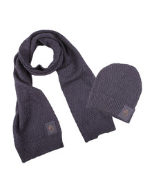 Luke Mens Blue Unbeweavable Hat And Scarf Set