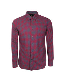 Crew Mens Red L/S Naseby Shirt
