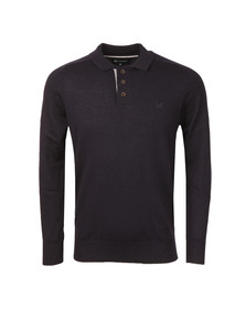 Crew Mens Blue Merino Knitted Polo