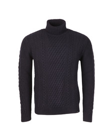 Edwin Mens Blue United Rollneck Jumper