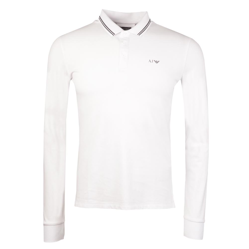 63da62a2 Armani Jeans 8N6F36 Tipped Long Sleeve Polo Shirt | Oxygen Clothing