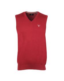 Gant Mens Red Cotton Slipover