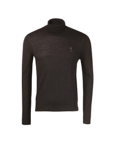 Religion Mens Black Craving Merino Roll Neck Jumper