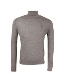 Religion Mens Grey Craving Merino Roll Neck Jumper