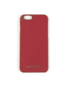 Michael Kors Womens Red Saffiano iPhone 6 Cover