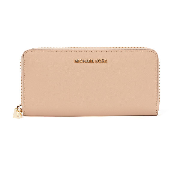 Michael Kors Womens Beige Jet Set Zip Purse main image