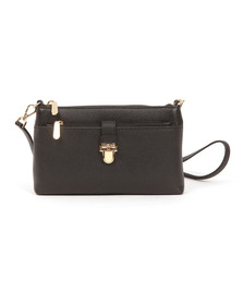 Michael Kors Womens Black Mercer Mid Snap Pocket Crossbody Bag