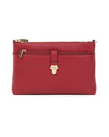 Michael Kors Womens Red Mercer Large Snap Pocket Crossbody Bag