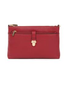 Michael Kors Womens Red Mercer Large Snap Pocket Crossbody Bag
