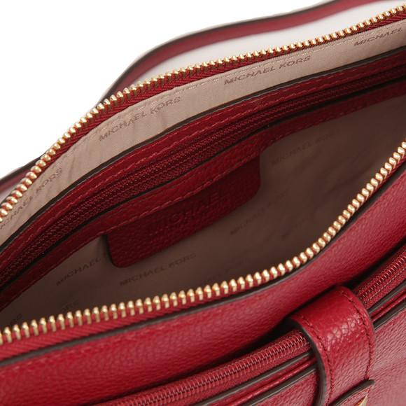 Michael Kors Womens Red Mercer Large Snap Pocket Crossbody Bag main image