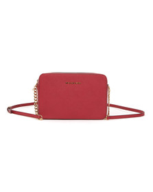 Michael Kors Womens Red Jet Set Travel Shoulder Bag