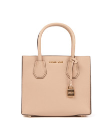 Michael Kors Womens Beige Mercer Mid Messenger