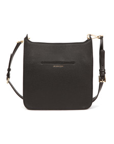 Michael Kors Womens Black Sullivan Large Messenger Bag