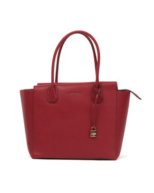 Michael Kors Womens Red Mercer Large Satchel