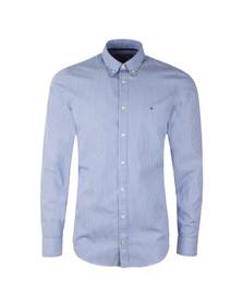 Tommy Hilfiger Mens Blue L/S Lexington Stripe Shirt