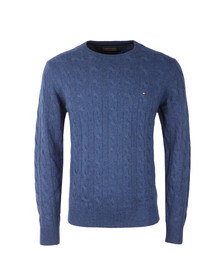 Tommy Hilfiger Mens Blue Cable Jumper