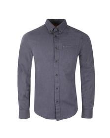 Ben Sherman Mens Blue Marl Oxford Shirt