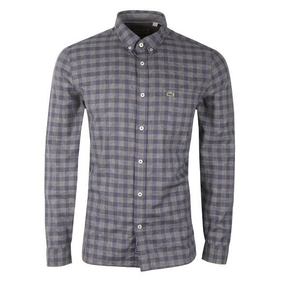 Lacoste Mens Blue L/S CH9904 Check Shirt main image